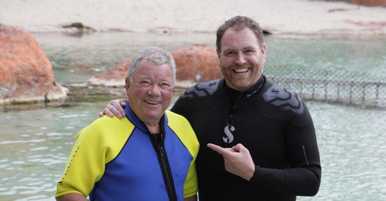William Shatner and Josh Gates