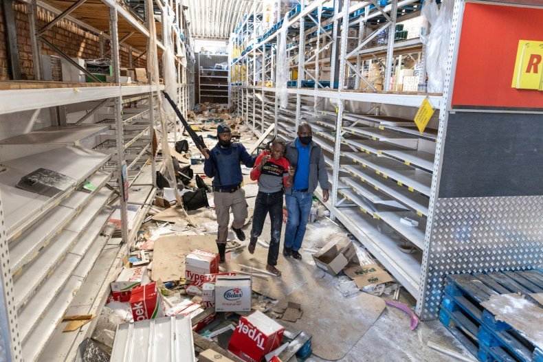 Shopping Center Looted in South Africa