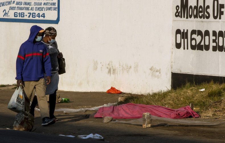 Body Covered Following Protests in South Africa