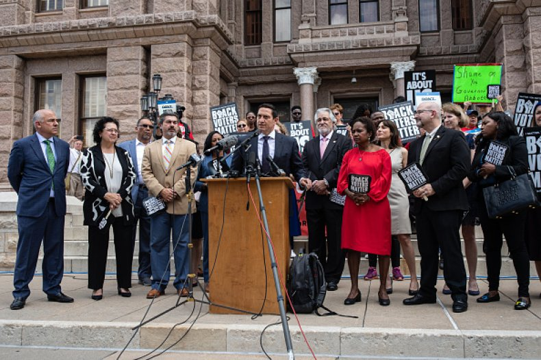 Texas Democrats State Legislature Voting Bill