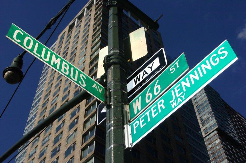 Peter Jennings Way in New York