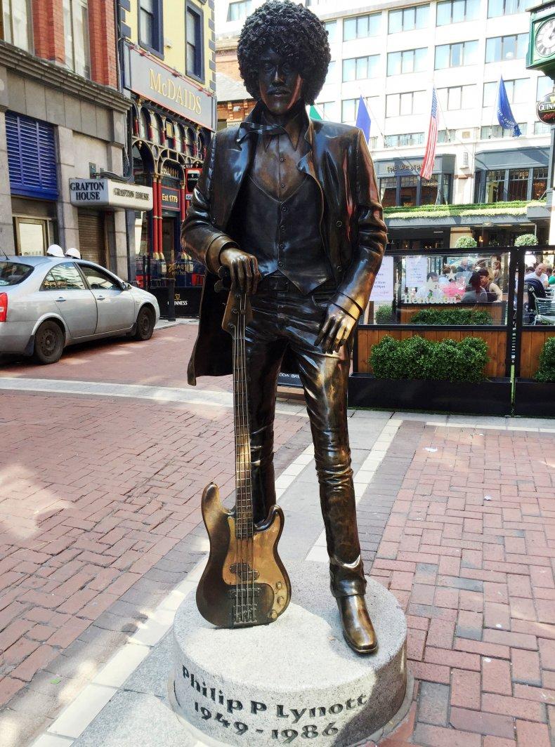 Phil Lynott statue in Dublin