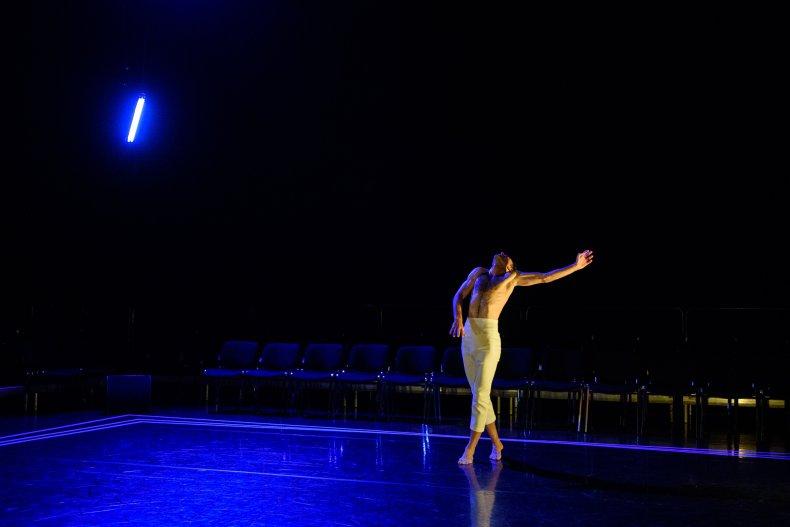 Dancer performing in the Lilian Baylis Studio