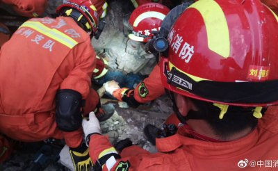 Rescuers Search Rubble After Fatal Hotel Collapse