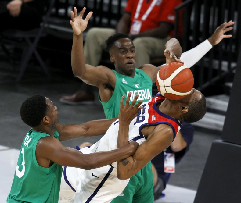 Nigeria and USA basketball match
