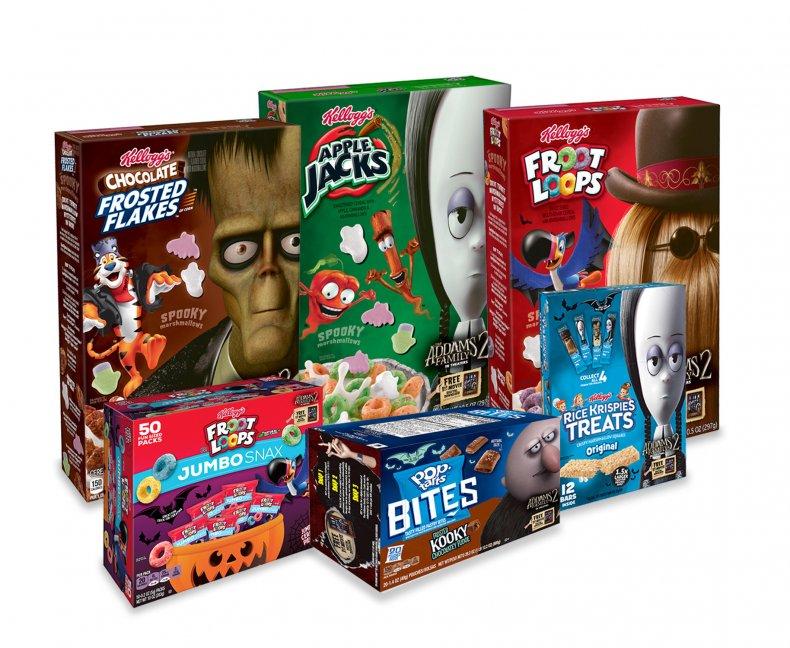 Kellogg's Addams Family Cereals