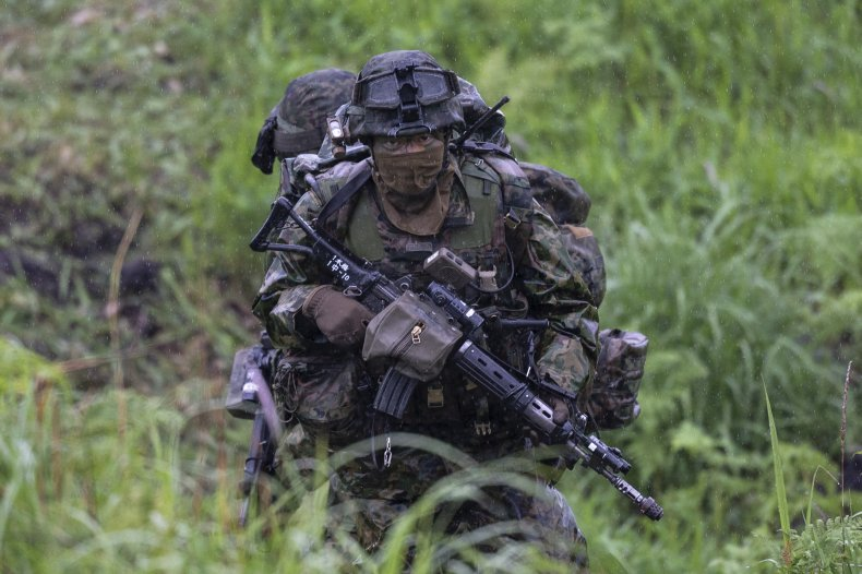 Japan Troops Take Part In Joint Exercise