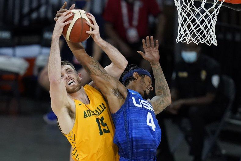 Australia beats Team USA in basketball match