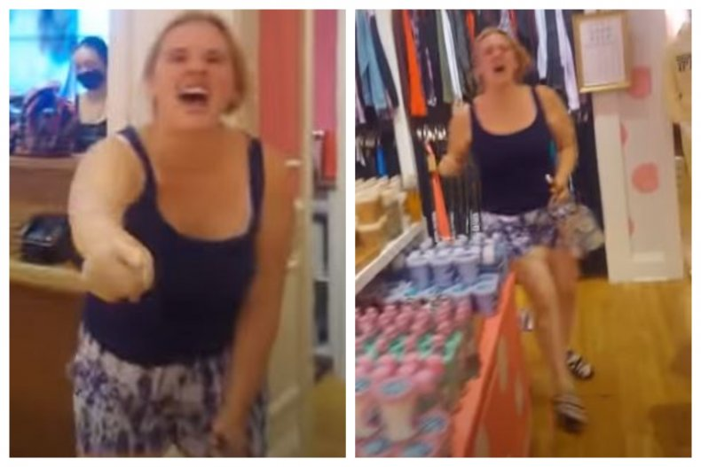 The incident happened in a Victoria's Secret