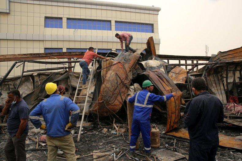 Fire Rescue Iraq Hospital