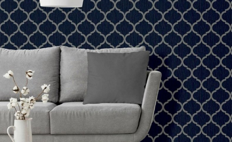 Product shot of the geometric wallpaper pattern.