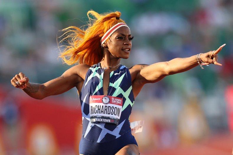 Sha'Carri Richardson Running