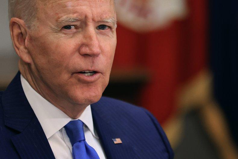 President Joe Biden hosts a meeting