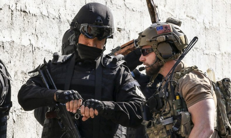 US, special, operations, forces, and, Uzbek, guard