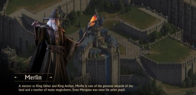 Merlin in King of Avalon