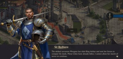 Sir Bedivere in King of Avalon