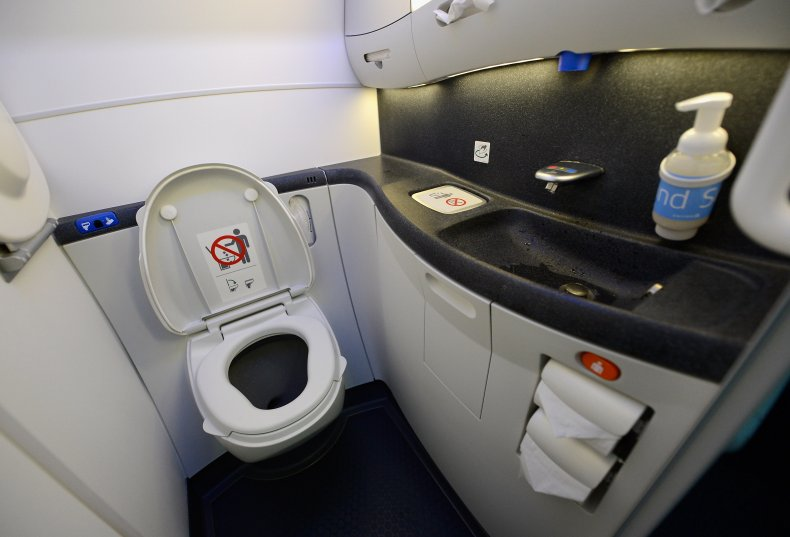 Bathroom of an airplane