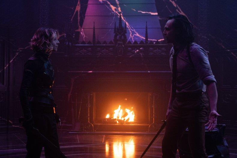 Sylvie and Loki fight in Loki