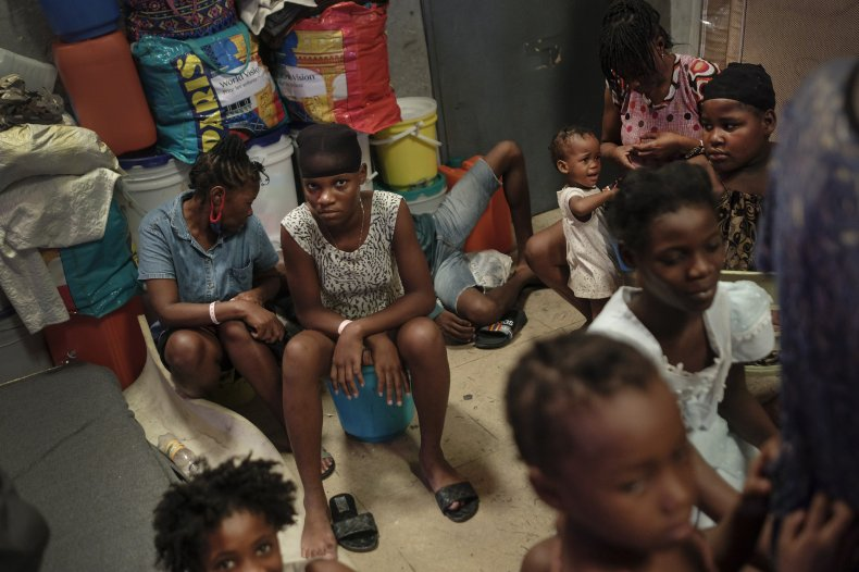 Haitian Youth Inside a Shelter