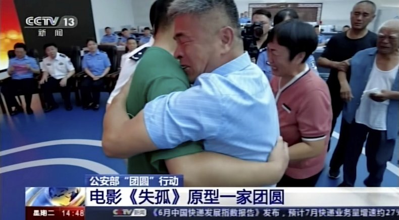 Chinese couple reunited with son