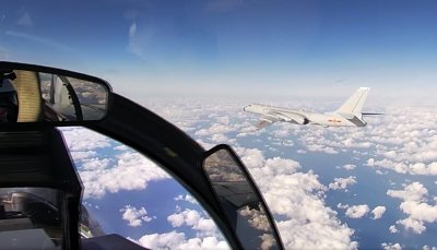 Chinese Bomber Joins Russian Air Exercise