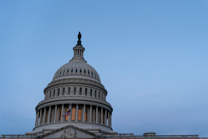 U.S. Capitol building is seen at sunrise