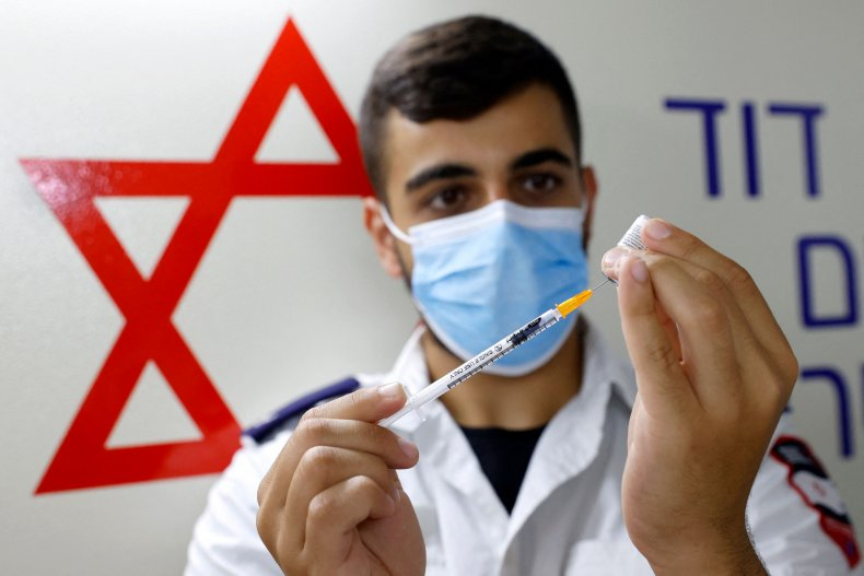 Israel Vaccination Worker
