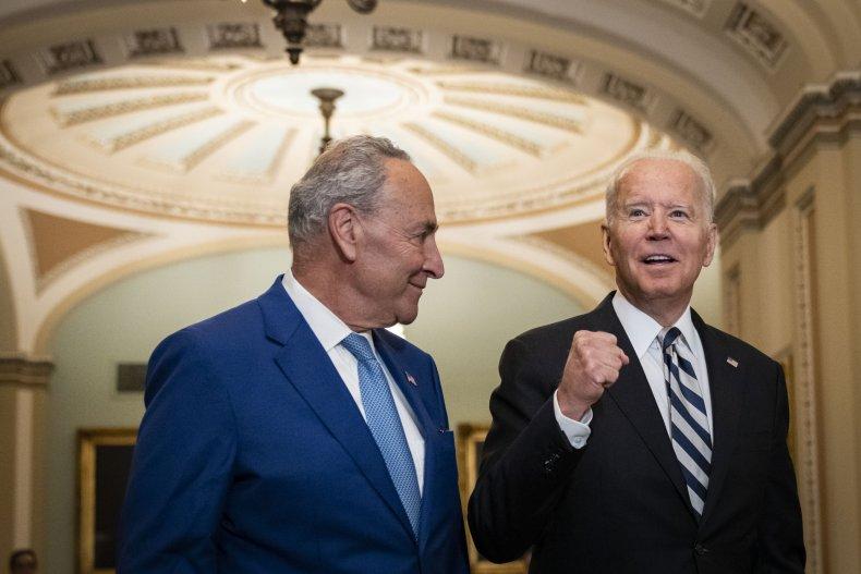 Biden Meets With Democrats in Senate