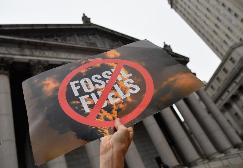 Climate activists protest