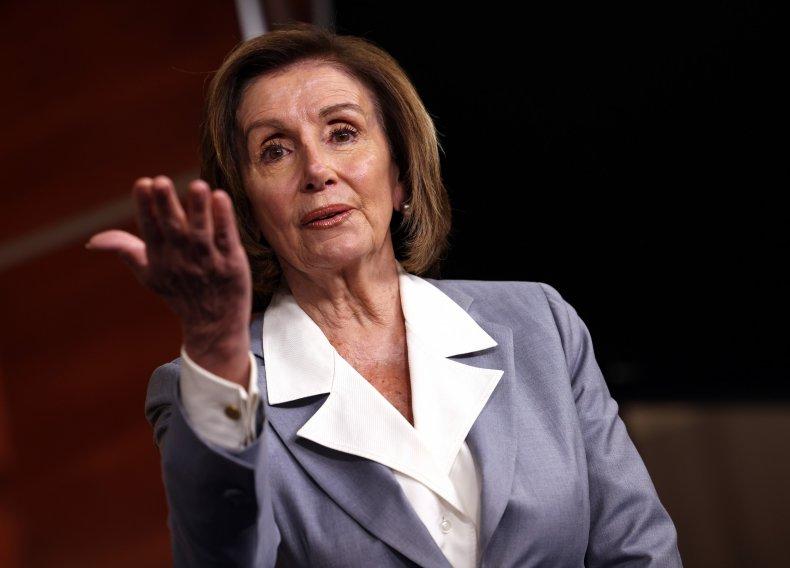 Nancy Pelosi Speaks at a Press Conference