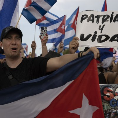 Protesters in Miami demonstrated against Cuban violence