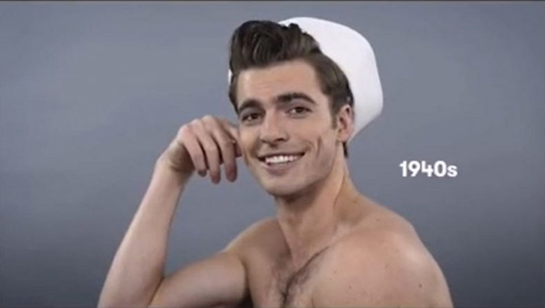 Screengrab from beauty evolution video.