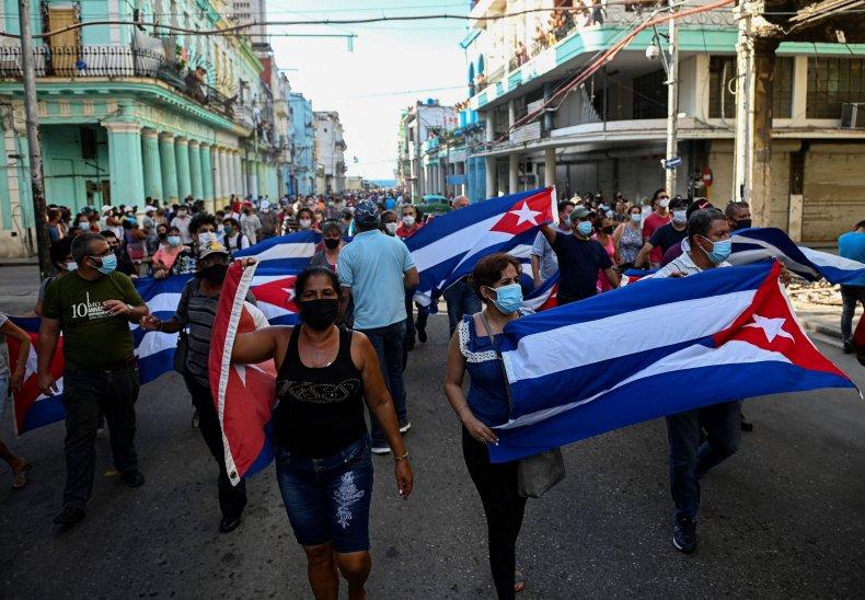 People Protest in Cuban Capital Havana