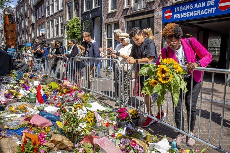 Flowers left for Journalist