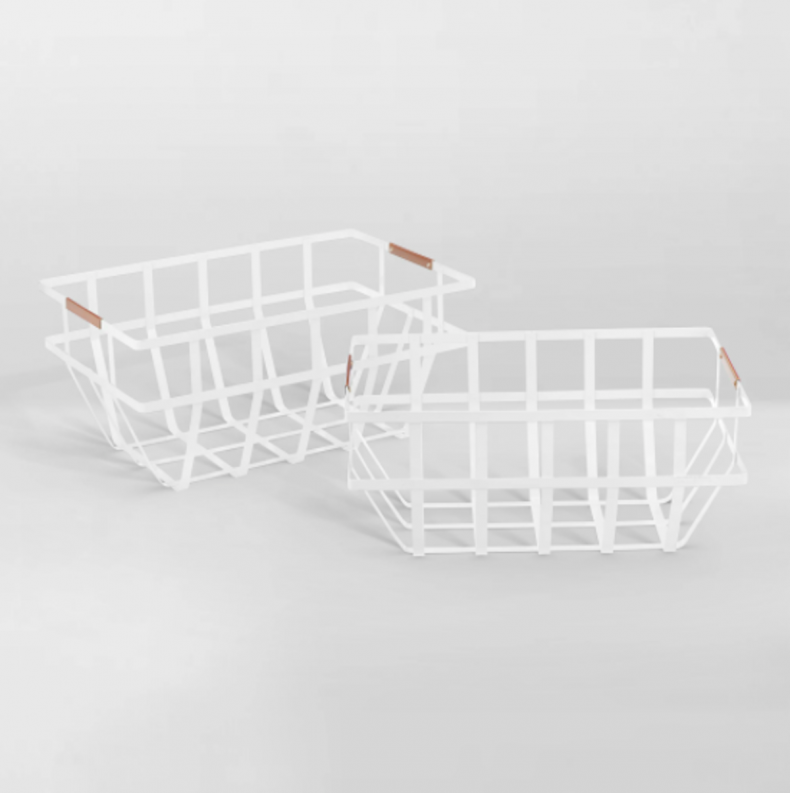 best home organization products metal basket