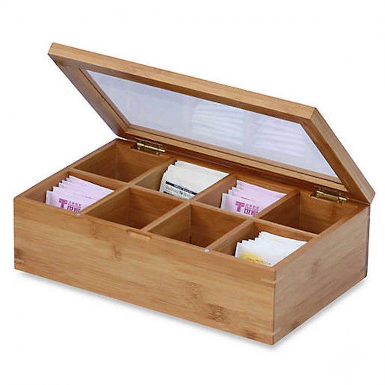 best home organization products tea box