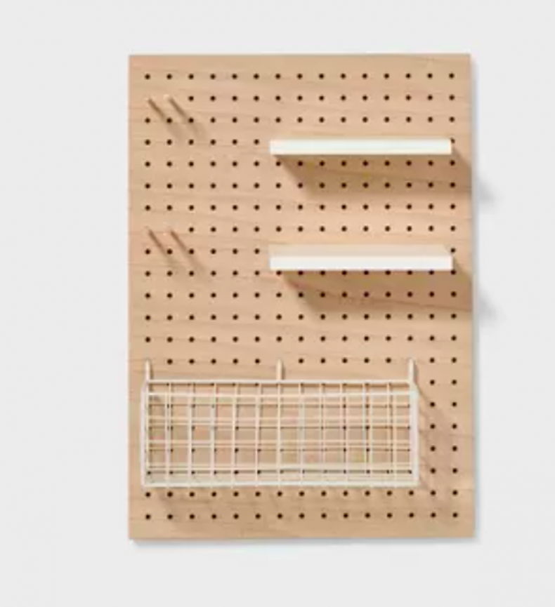 best home organization products pegboard