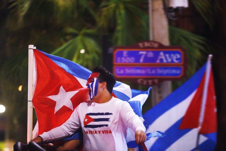Cuba, protest, Tampa, Florida