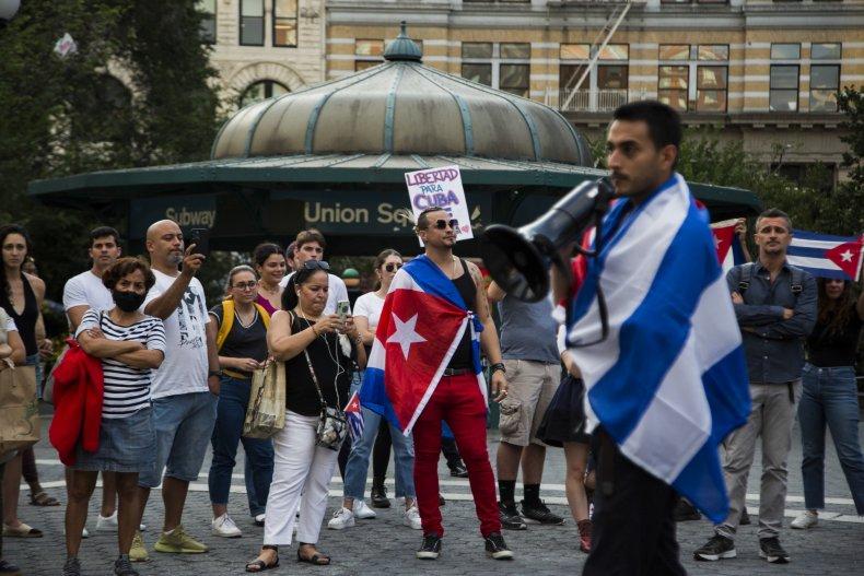 Cuba Protests New York
