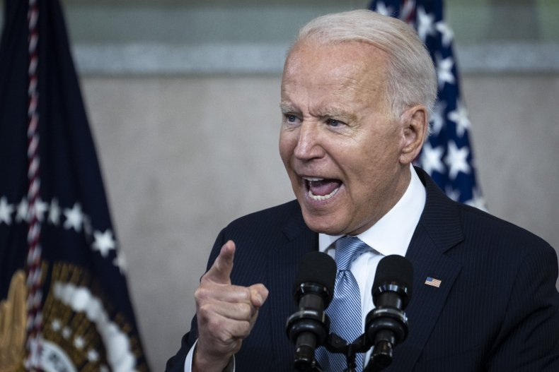 U.S. President Joe Biden speaks about voting