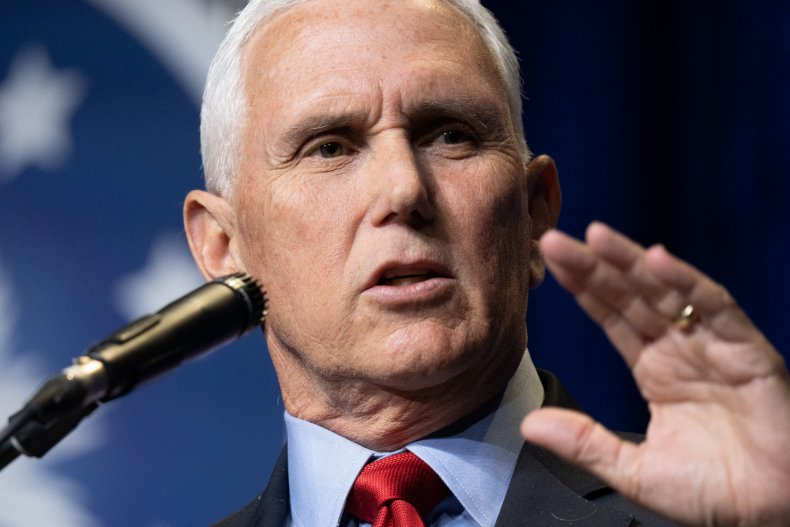 Mike Pence Speaks to a Crowd