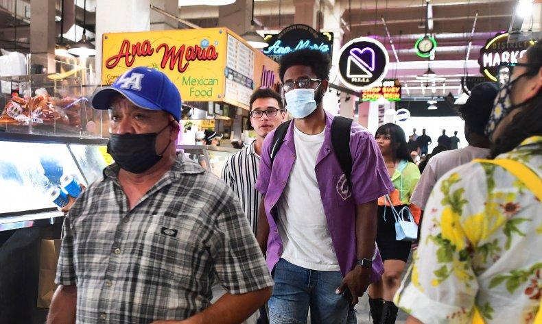 los ángeles mask mandate, LA, getty