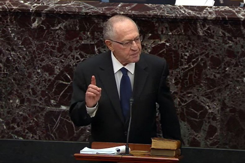 Dershowitz Speaks at Trump's First Impeachment Trial