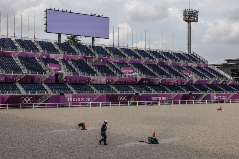 The Tokyo Olympics equestrian park in 2021.