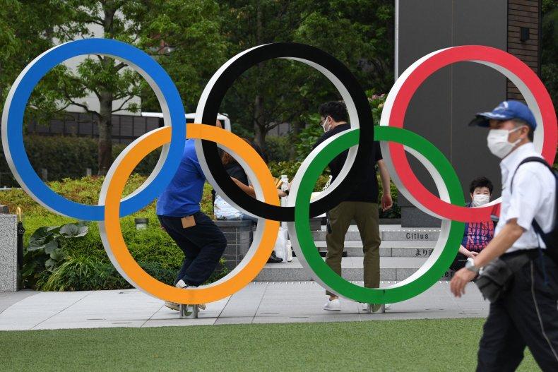 The Olympics rings logo seen in Japan.