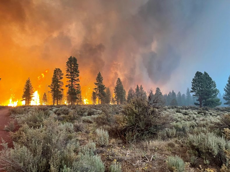 Oregon wildfires continue to burn