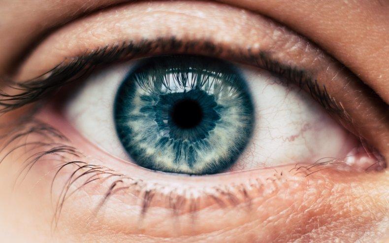 File photo of a blue eye.