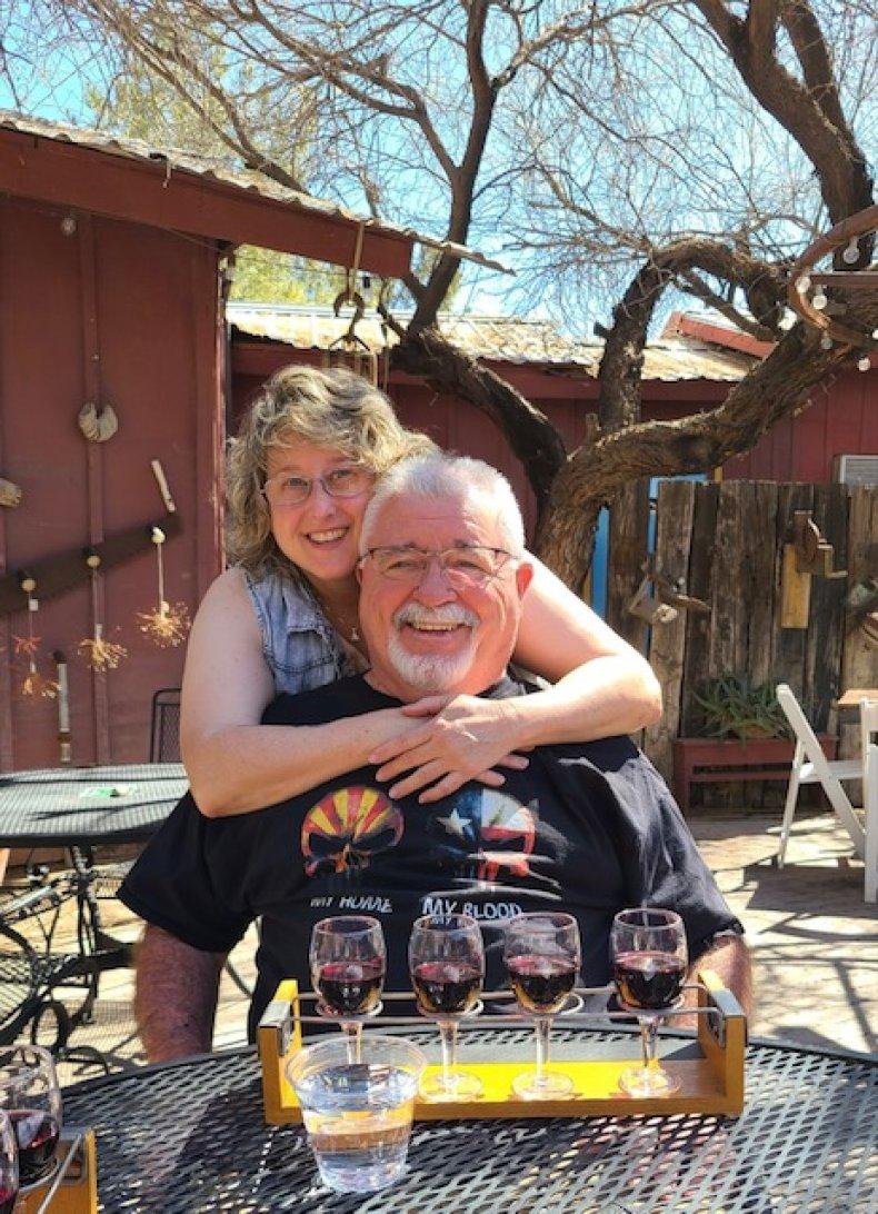 Gary and Melissa at a winery