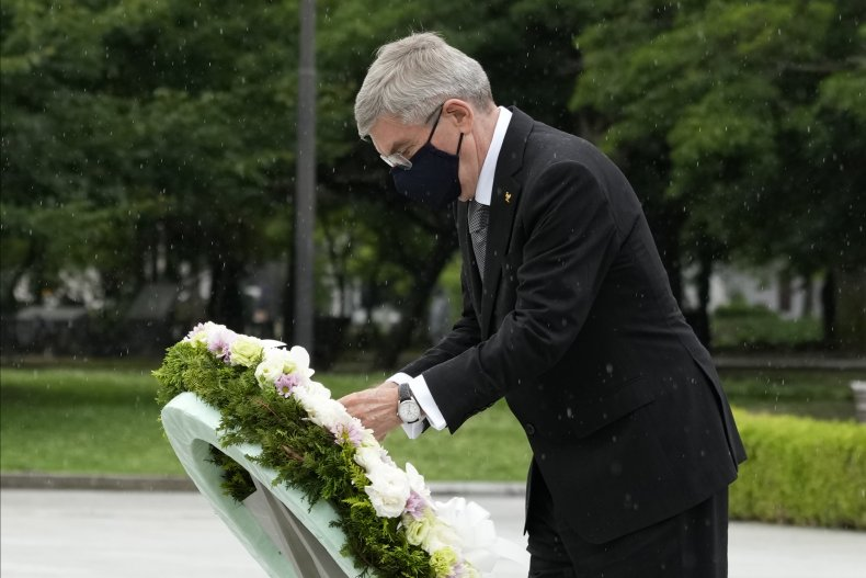 Bach in Hiroshima Met With Olympics Protestors