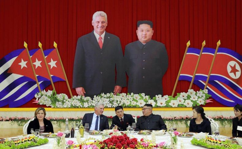 Cuba, Díaz-Canel, and, North, Korea, Kim